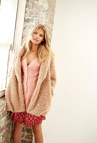 Waking Hour Teddy Coat - Harvest Beauty