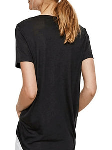 JOY SPICY V-NECK TOP in Black - Harvest Beauty