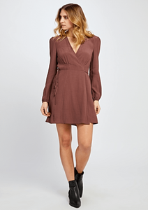 KATHLEEN DRESS MARRON