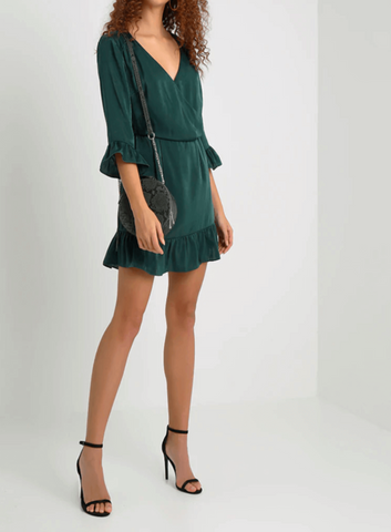MODERN MELODY RUFFLE DRESS