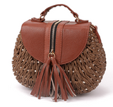 Straw Knitted Bag - Harvest Beauty