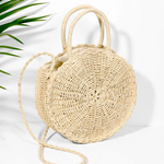 Material:  Made of durable rattan fabric and straw Lining Material:  Polyester Closure Type:  Zipper Interior:  Interior Zipper Pocket, Interior Slot Pocket, Cell Phone Pocket
