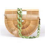 This Bamboo Shoulder Bag is the hottest bag this season. This bag is constructed of bamboo, comes with a detachable shoulder strap and dust bag to protect your bag.
