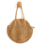 Round Straw Bag - Harvest Beauty