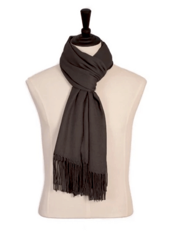 Pashmina Scarf Charcoal Brown - Harvest Beauty