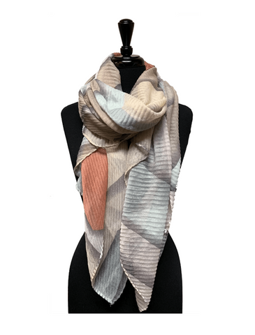 Harvest Abstract Lightweight Scarf - Harvest Beauty