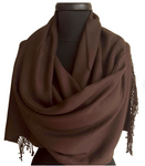 Pashmina Scarf Chocolate Brown - Harvest Beauty