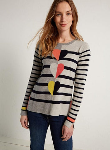 Trio Heart Jumper - Harvest Beauty