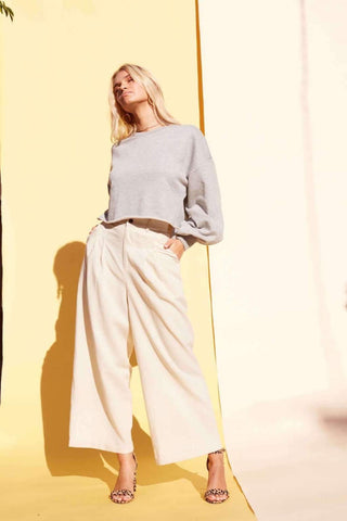 Utility Wide Leg Pant  $ 109.00 CAD  Style#IB19S1435  Fresh white, easy neutral colour and cotton blend- these MINKPINK Keeper Wide Leg pant will keep your holiday wardrobe going long into the rest of the season!