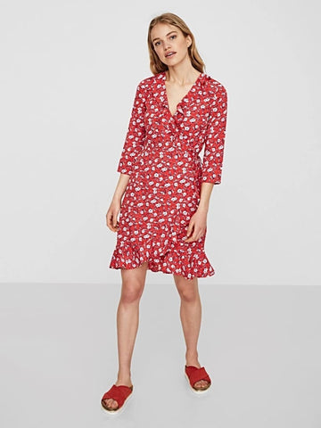 Molly Poly Wrap Dress - Harvest Beauty