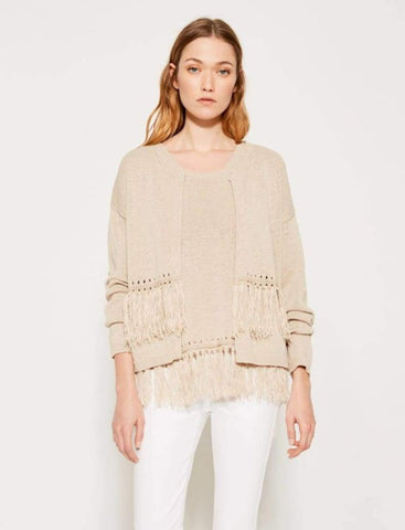 CARDIGAN WITH FRINGES - Harvest Beauty