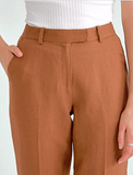Big Cuff Linen Pants - Harvest Beauty