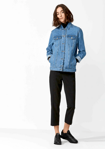 "Martha Denim Jacket in Blue ""Minimal"""