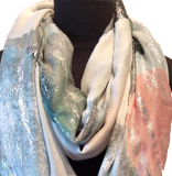 Harvest Lightweight Green & Pink Scarf - Harvest Beauty