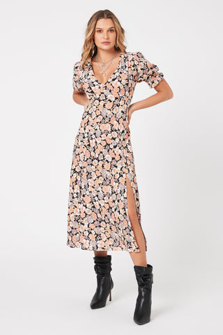 Minkpink Love Charm Midi Dress Harvest Beauty