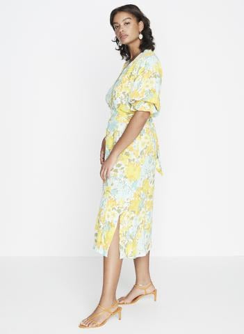 Rafa Midi Dress Annina Floral - Harvest Beauty