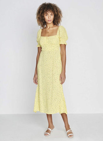 Evelyn Midi Dress La Fica Floral - Harvest Beauty