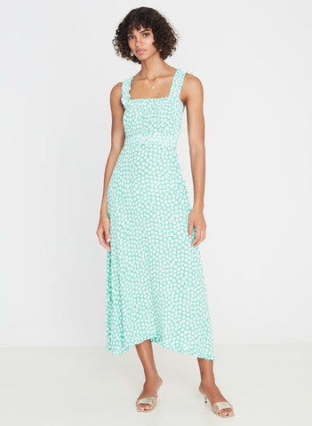 Saint Tropez Midi Dress Cora Floral-Harvest Beauty