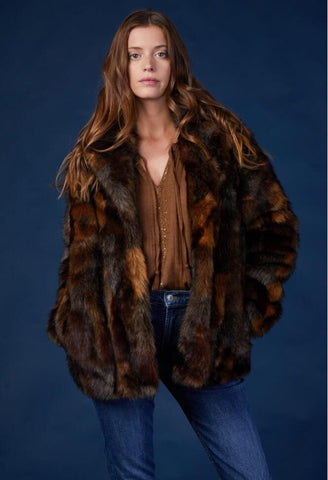 Irene Faux Fur Coat - Harvest Beauty