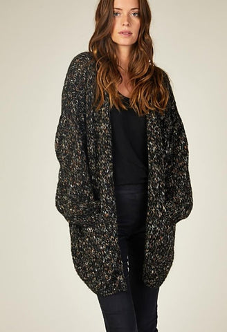 OLYMPUS TWINKLE CARDIGAN IN BLACK