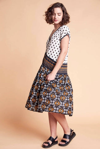 Wild Ethnic Print Dress - Harvest Beauty
