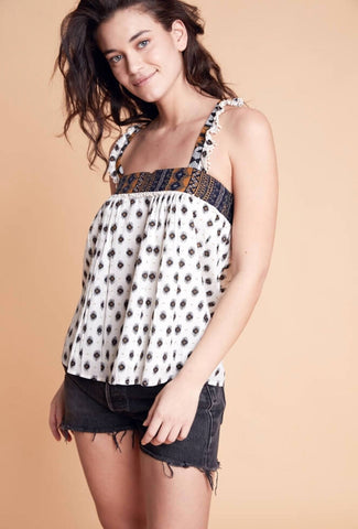 Wyler Ethnic Print Cami Top