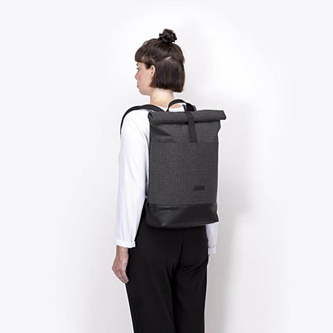 HAJO BACKPACK IN DARK GREY - FELT SERIES