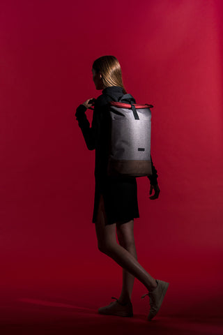 HAJO BACKPACK IN BROWN SLATE SERIES