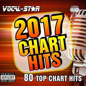 VOCAL-STAR 2017 CHART HITS CDG DISC PACK - 80 SONGS