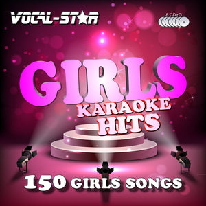 VOCAL-STAR GIRLS KARAOKE DISC SET 8 CDG DISCS 150 SONGS