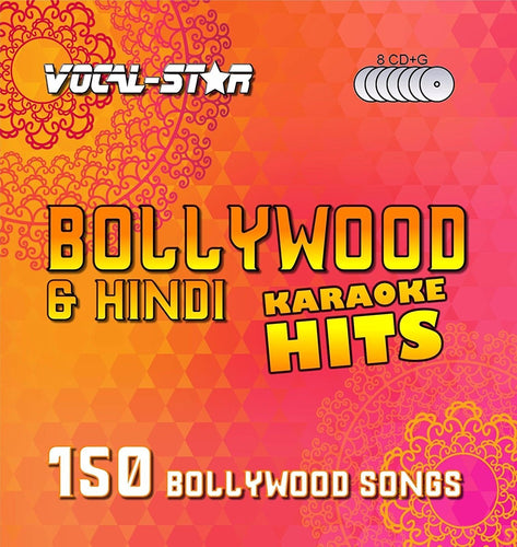 VOCAL-STAR BOLLYWOOD KARAOKE DISC SET 8 CDG DISCS 150 SONGS