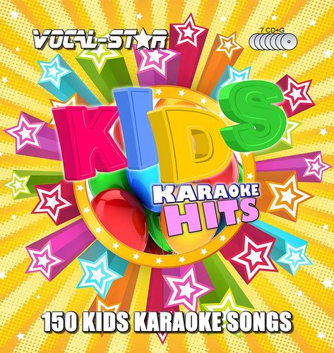 VOCAL-STAR KIDS KARAOKE DISC SET 8 CDG DISCS 150 SONGS