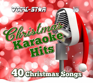 VOCAL-STAR CHRISTMAS KARAOKE DISC SET 2 CDG DISCS 40 SONGS