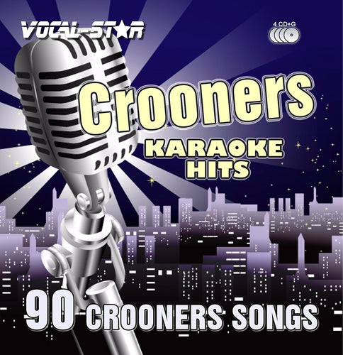 VOCAL-STAR CROONERS KARAOKE DISC SET CDG DISCS 90 SONGS