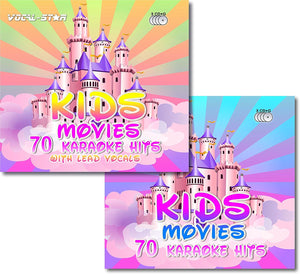 VOCAL-STAR KARAOKE KIDS MOVIES 6 CDG DISC BUNDLE 140 SONGS (70 WITH LEAD VOCALS)