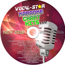 VOCAL-STAR NOVEMBER 2018 CHART HITS CDG DISC - 18 SONGS