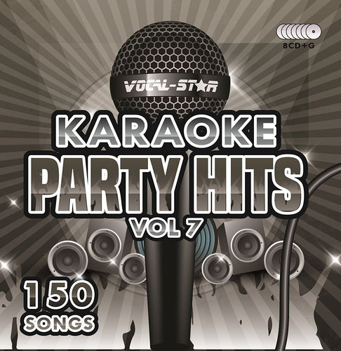 VOCAL-STAR PARTY HITS 7 KARAOKE DISC SET 8 CDG DISCS 150 SONGS