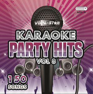 VOCAL-STAR PARTY HITS 8 KARAOKE DISC SET 8 CDG DISCS 150 SONGS