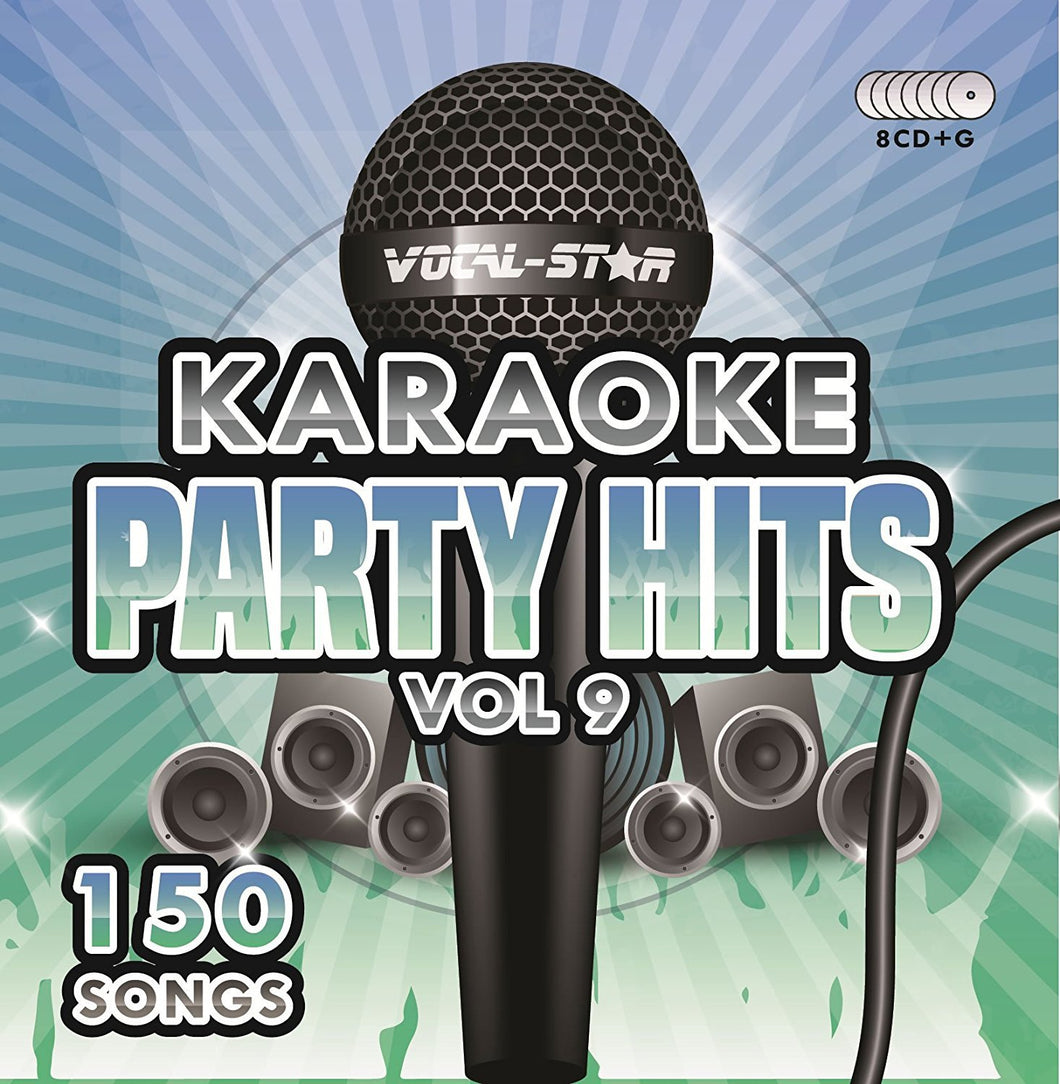 VOCAL-STAR PARTY HITS 9 KARAOKE DISC SET 8 CDG DISCS 150 SONGS