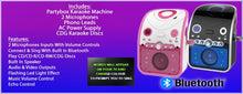 Vocal-Star PartyBox CDG CD Bluetooth Karaoke Machine & Speaker 2 Microphones & 40 Songs