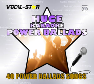 Vocal-Star Karaoke Hits of Power Ballads - 40 Songs - 2 CDG Disc Set