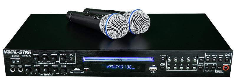Vocal-Star VS-1200 HDMI Pro Smart Karaoke Machine Set with Bluetooth & 150  Party Songs & 2 Wired Microphones