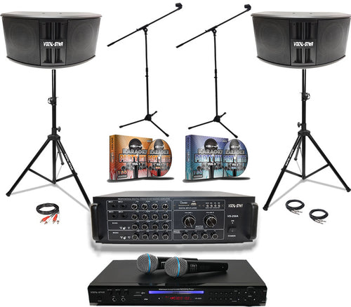 Vocal-Star Big Gig Karaoke Set With 300 Top Songs including 1000w speakers