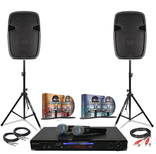 Vocal-Star Karaoke Party Pack With 300 Top Songs Including 500w Speakers