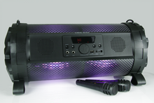 "Vocal-Star ""MusicTube"" Portable Bluetooth Speaker with Karaoke Function with mp3, Led light Effect & 2 Microphones"