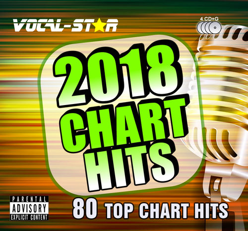 VOCAL-STAR 2018 CHART HITS CDG DISC PACK - 80 SONGS