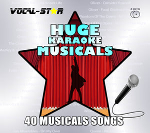 Vocal-Star Karaoke Hits of Musicals - 40 Songs - 2 CDG Disc Set