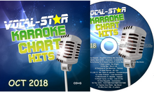 VOCAL-STAR OCTOBER 2018 CHART HITS CDG DISC - 18 SONGS