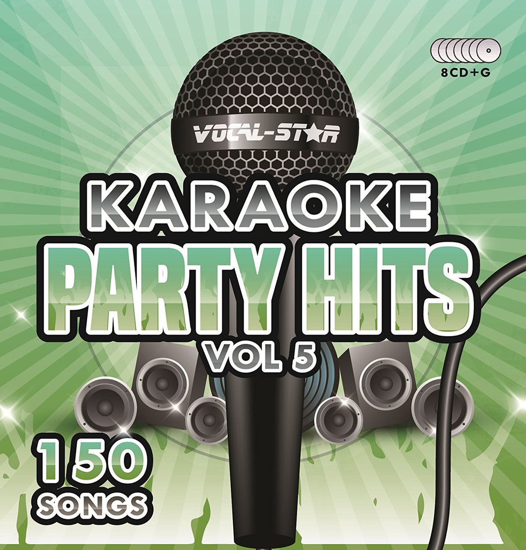 VOCAL-STAR PARTY HITS 5 KARAOKE DISC SET 8 CDG DISCS 150 SONGS