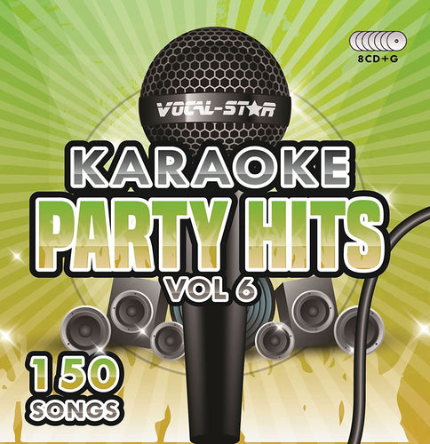 VOCAL-STAR PARTY HITS 6 KARAOKE DISC SET 8 CDG DISCS 150 SONGS